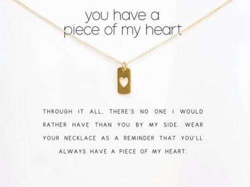 """Kette mit Geschenkkarte """"You have a piece of my Heart"""""""