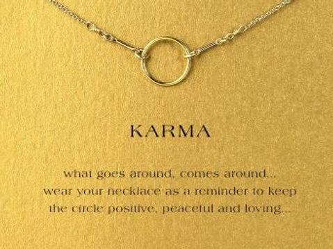 """Kette mit Geschenkkarte """"Karma"""" - ein Kreis"""
