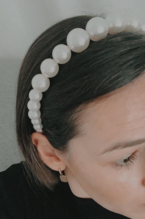 Brautschmuck Haarreif Perlen Creme ivory 1 Stk.