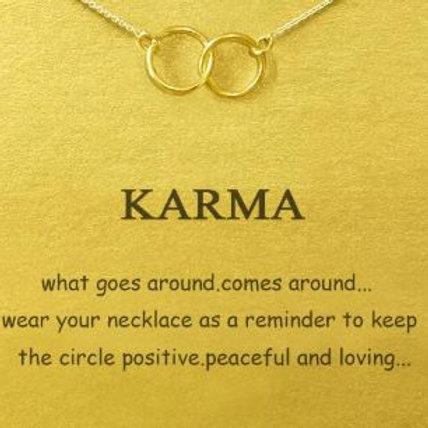 """Kette mit Geschenkkarte """"Karma"""" - zwei Kreise"""