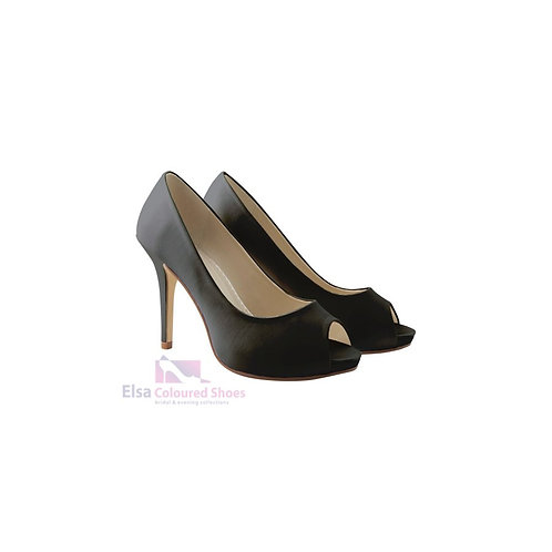 Rainbow Club High Heel JENNIFER Black Satin Gr. 38,5