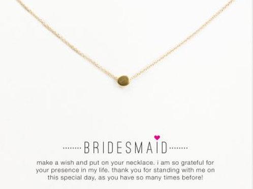 """Kette mit Geschenkkarte """"Bridesmaid"""" - goldener Punkt"""