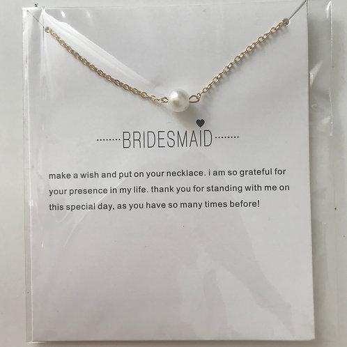 """Kette mit Geschenkkarte """"Bridesmaid"""""""