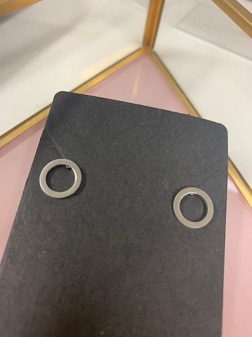 Ohrringe Geometrisch Kreis Rund Stainless Steel