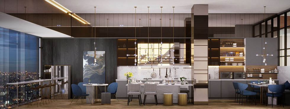 Co Kitchen & Dining Area