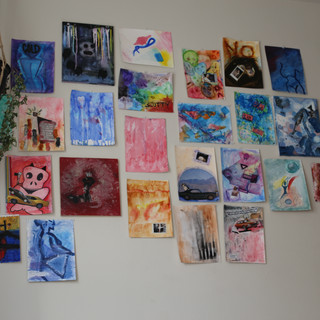 art wall in apt, 2016