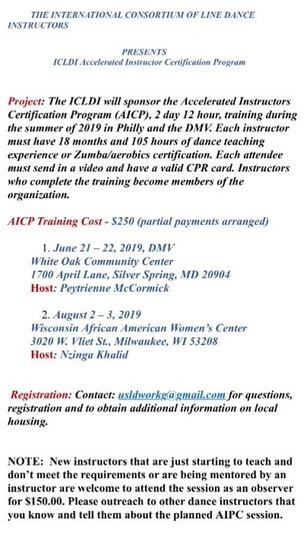 Accelerated Line Dance Instructor Certification Program