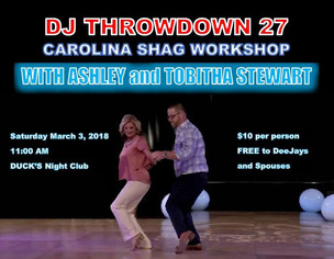 Event: The Association of Beach and Shag Club DJs presents DJ Throwdown 27, March 1-3
