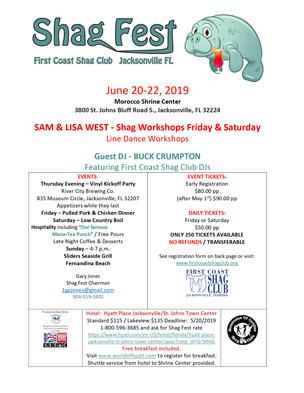 Event: Shag Fest 6/20-22, 2019