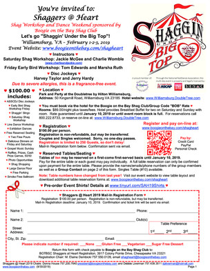 Event: Shaggers at Heart
