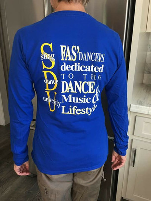 Shag Dance University T-shirts for sale to Benefit the Hall of Fame Foundation