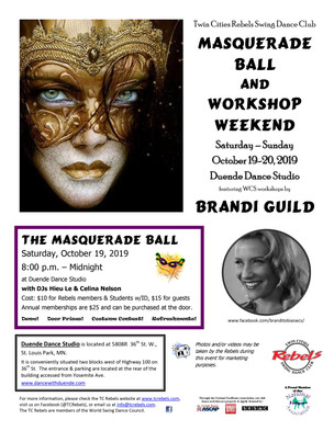 Twin Cities Rebels Swing Dance Club Masquerade Ball and Workshop Weekend
