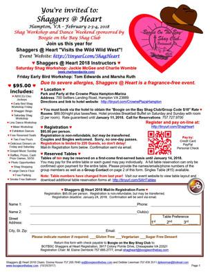 Event: Shaggers @ Heart 2018 (Host Boogie on the Bay Shag Club)