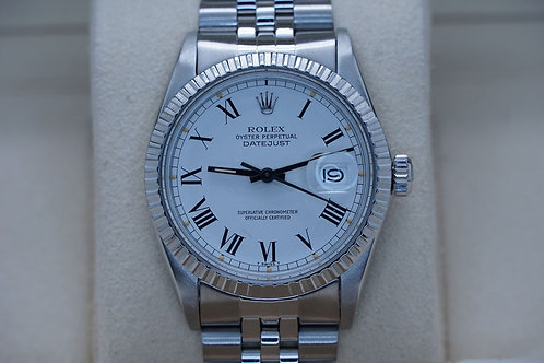 Rolex Datejust 16030 White Buckly Dial