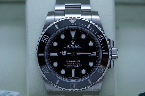 Rolex Submariner No Date Ceramic 114060 Under Warranty