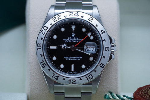 Rolex Explorer II 40mm Black 16570 M Serial 3186