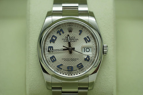 Rolex Datejust 36mm Decorated Arabic dial 116200