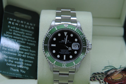 Rolex Submariner Date 16610LV 50th Anniversary Kirmit V Engraved