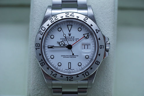 Rolex Explorer II 40mm Polar 16570 K Serial