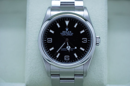 Rolex Explorer I 36mm M Serial Engraved Rehaut