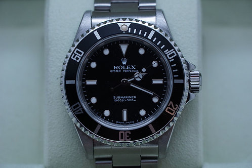 Rolex Submariner No Date Two Liner 14060M D Serial