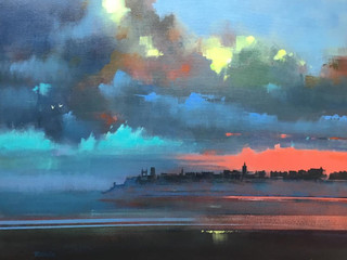 MORNING MIST, ST ANDREWS by KEN ROBERTS