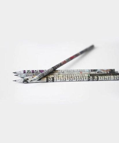 Pack of 5 - Newspaper waste pencils