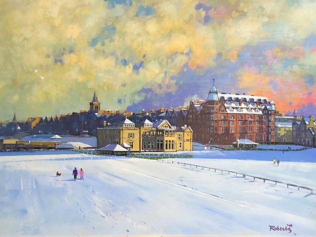 BRIGHT WINTER'S DAY, ST ANDREWS by KEN ROBERTS