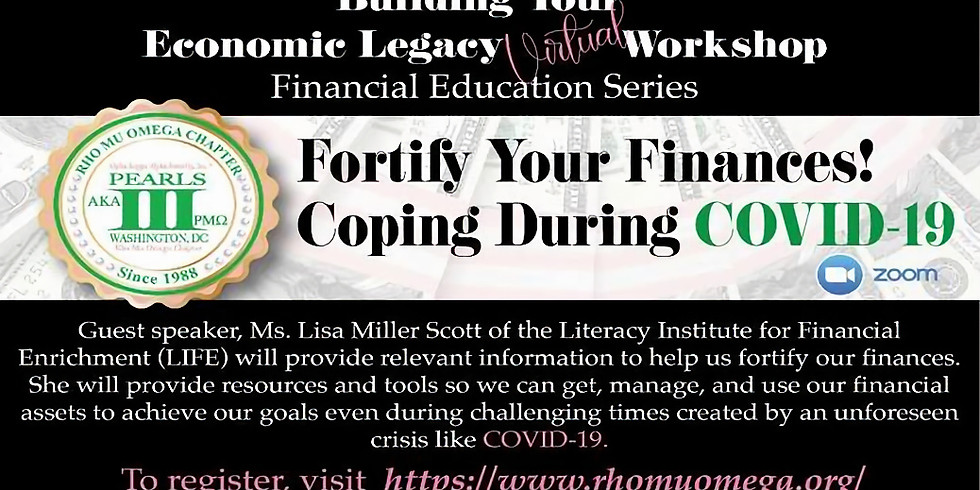 Fortify Your Finances! Coping During COVID-19