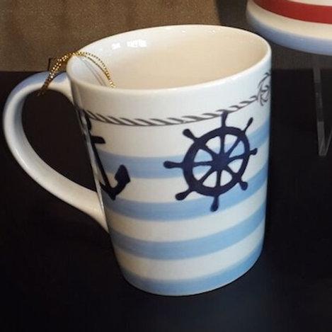 "Bol - Ambiance bord de mer ""marine"" - bleu - unité"