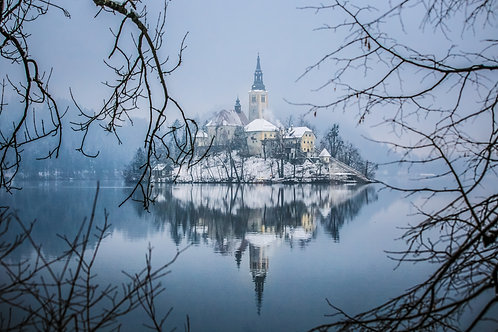 Ilha de Bled, Eslovênia.