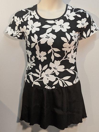 Black/White Floral Pattern Skating Dress w/ Swarovskis ($39 US)
