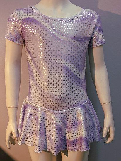 Purple, Lilac & White Skating Dress with Rhinestones ($39 US)
