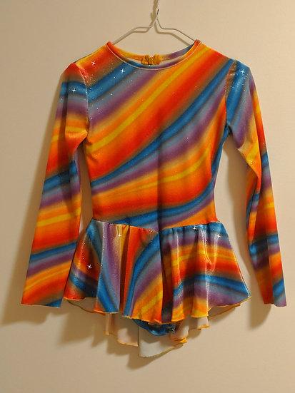 Rainbow-coloured Sparkle Velvet Skating Dress ($56 USD)