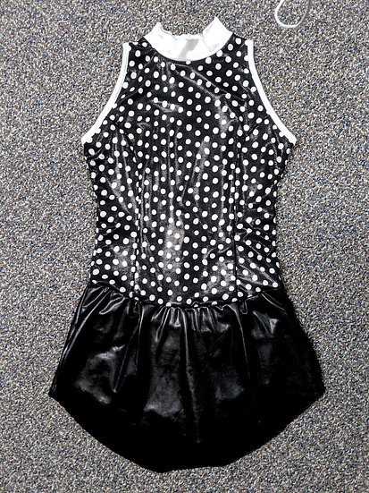 Black and White Polka Dot Skating Dress ($75 USD)