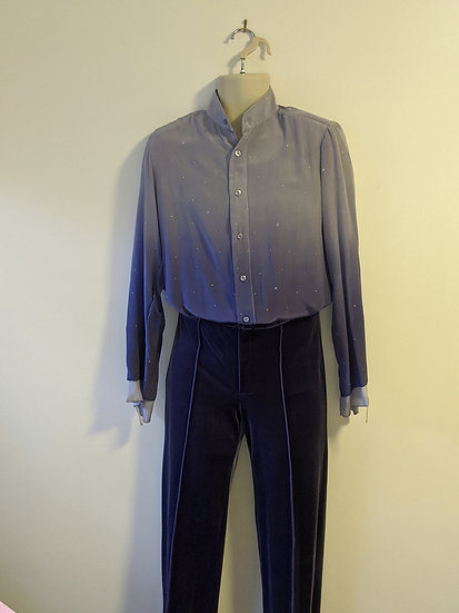 Ombre/Dyed Silk Mens Shirt and Velvet pants
