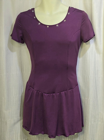 Plum Purple Skating Dress with Swarovskis ($39 US)