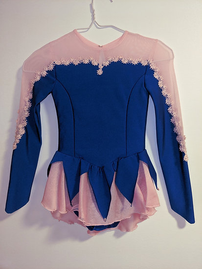 Royal Blue& Pink Petal Skirt Skating Dress ($132 USD)