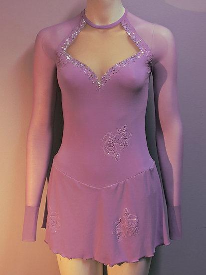 Lavender Skating Dress with Swarovskis ($200 USD)