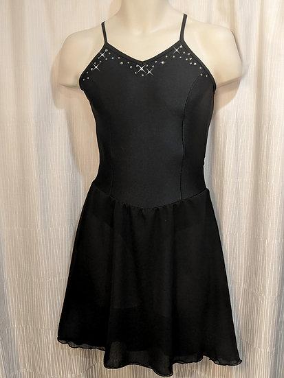 Black Ice Dance Skating Dress w/ Swarovskis ($120 USD)