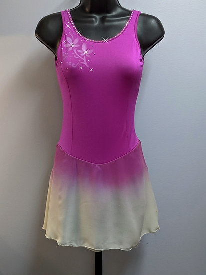 Purple & White Dyed Skating Dress with Swarovskis ($147 USD)