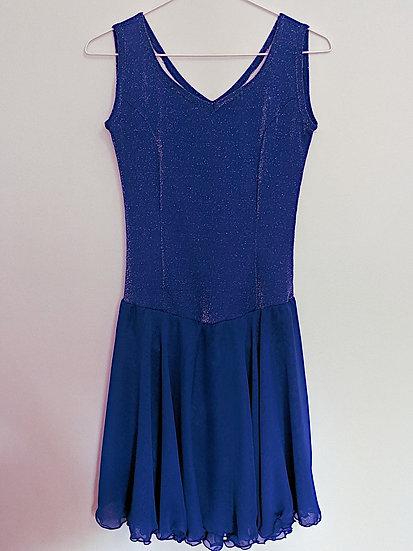 Shimmering Royal Blue Dance Skating Dress ($87 USD)
