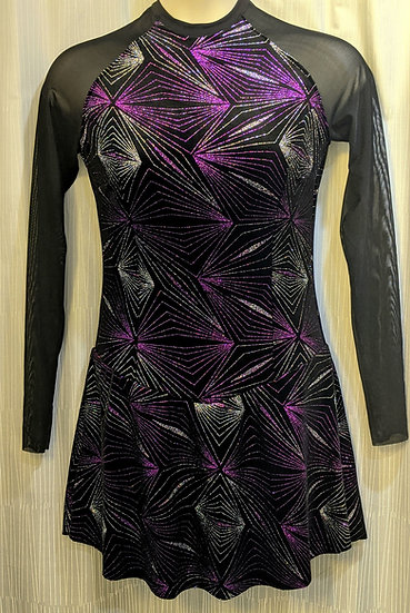 Black Sparkle Velvet Skating Dress ($109 USD)