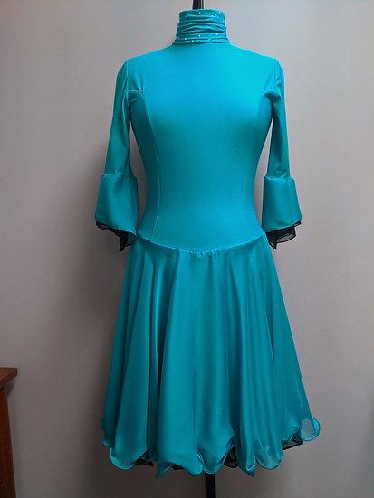 Jade and Black Dance Skating Dress with Swarovskis ($134 USD)