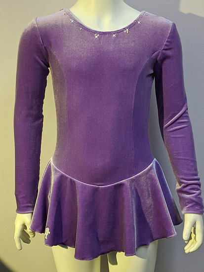 Lavender Velvet Skating Dress with Rhinestones ($39 US)