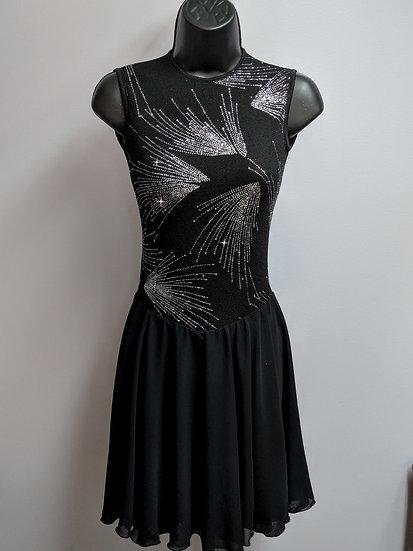 Black Sparkle Dance Skating Dress ($102 USD)