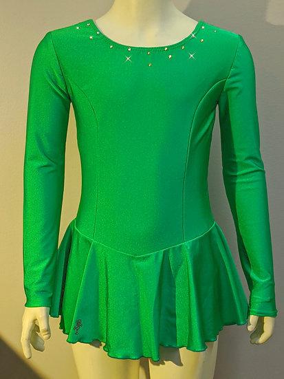 Kelly Green Skating Dress with Rhinestones ($39 US)
