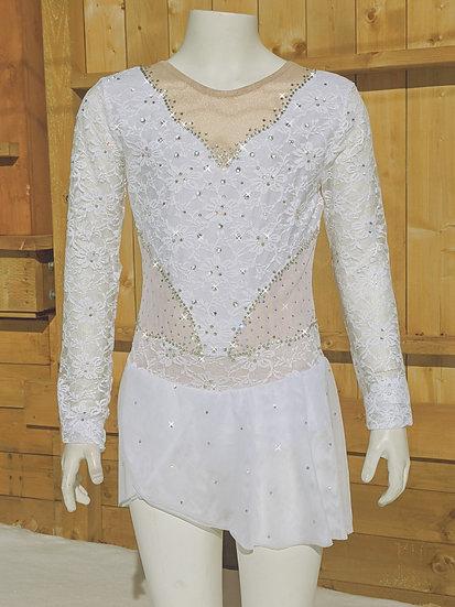 White Lace Skating Dress ($319 USD)