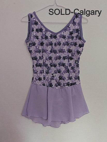 Purple, Lilac & Mauve Lace Skating Dress with Swarovskis ($109 USD)
