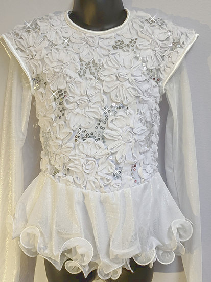 White Soutache Lace Skating Dress ($164 USD)